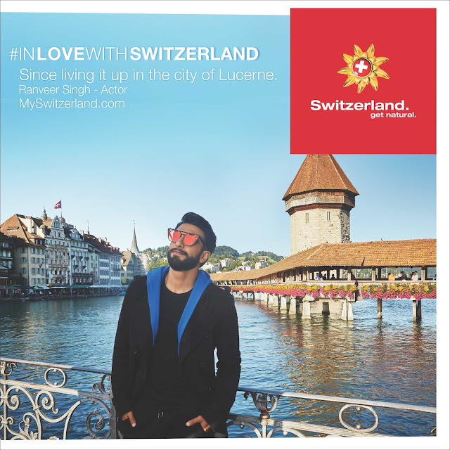 CATCH RANVEER SINGH IN THIS AMAZING EXTENDED VERSION 2 MINUTE VIDEO OF THE 'INLOVEWITHSWITZERLAND' CAMPAIGN