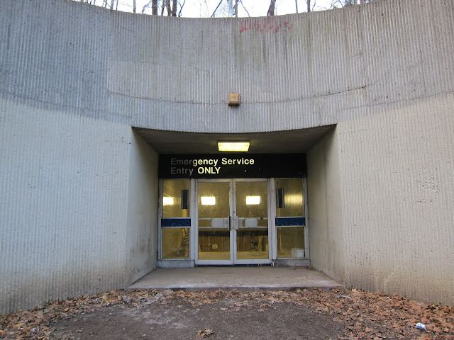 Emergency service entrance for St. Clair West station.
