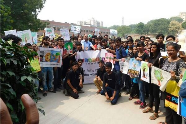 Mass plantation drive organized in Aryabhatta and RLA college