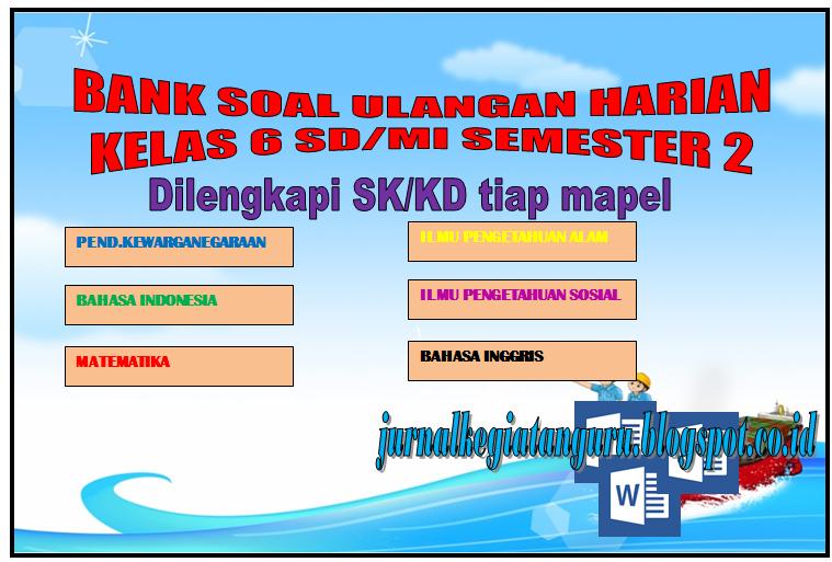 Kumpulan soalsoal ulangan harian Pilihan ganda dan isian kelas 6 SD/MI Kurikulum KTSP  Berkas
