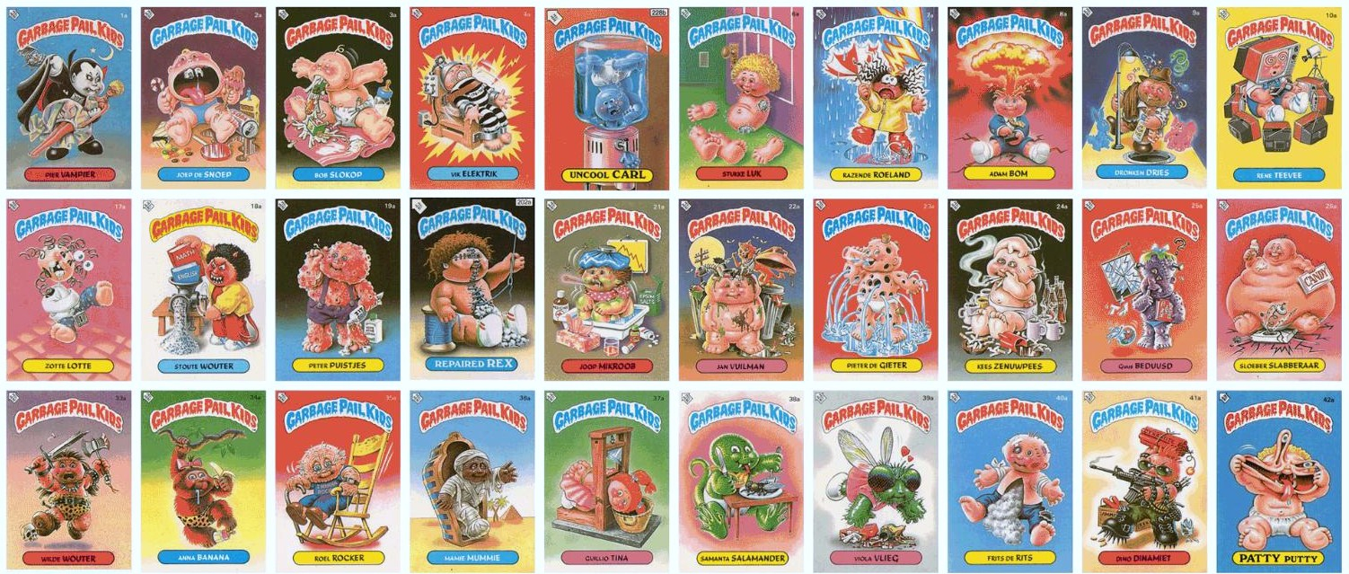 168bad35b2a Jared Unzipped  A Brief History of the Garbage Pail Kids.