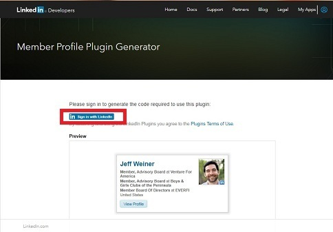 Add Your LinkedIn Profile in Blogger