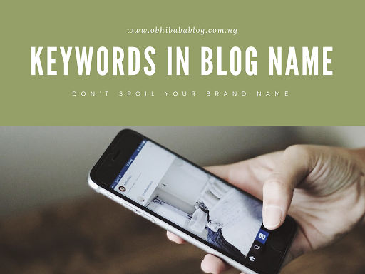 keywords in blog name