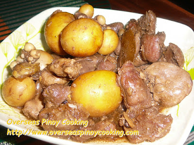 Chicken Guya Adobo Dish