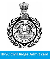 HPSC Civil Judge Admit card