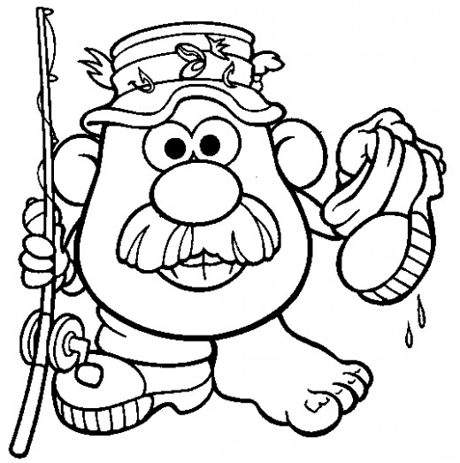 mrs potato head coloring pages - photo#25