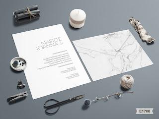 marble design wedding invitations