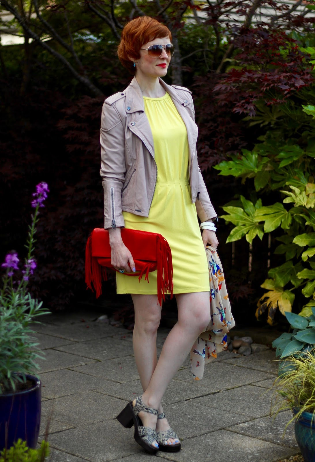 Fake Fabulous | How to wear yellow | Yellow, nude, red and Blue.