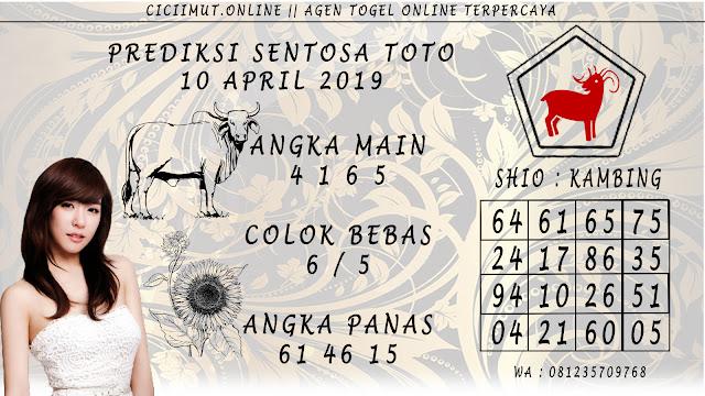 Prediksi Angka Jitu SENTOSA TOTO 10 APRIL 2019