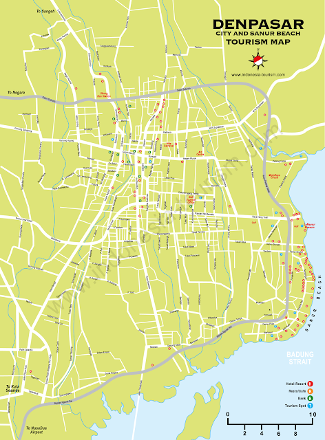 Peta Wisata Bali Lengkap | Paintai Kuta Bali