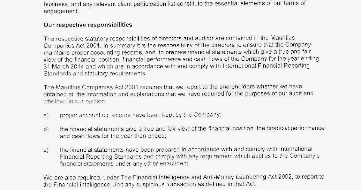 PROMETRICS Forum for Finance Professionals Auditing Concepts - engagement letter