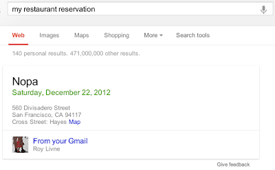 Gmail Restaurant Reservation