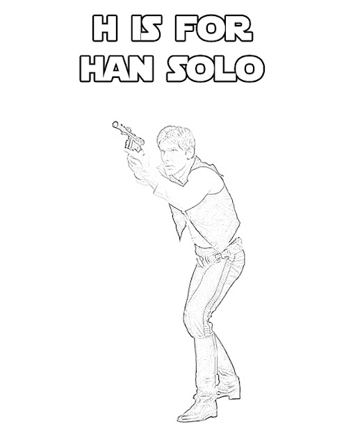 Star Wars Alphabet - H is for Han Solo