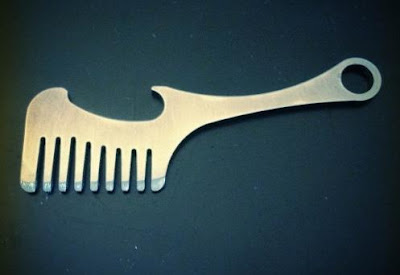 Beard and Mustache Comb Bottle Opener