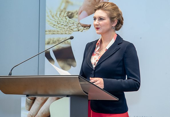 Hereditary Grand Duchess Stephanie and Hereditary Grand Duke Guillaume opened of 2nd edition of Masters Hands exhibition