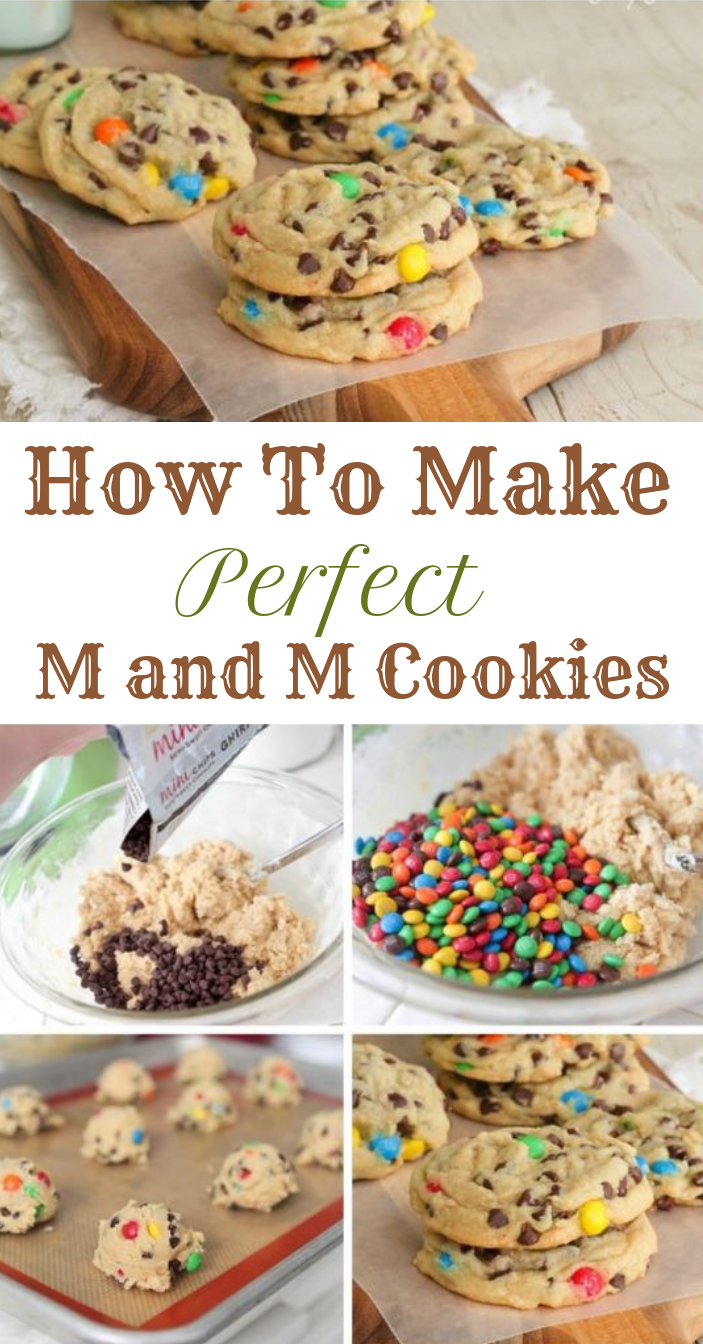 How To Make Perfect M and M Cookies #dessert #cookies