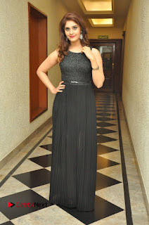 Actress Surabhi Stills in Black Long Dress at turodu Audio Launch  0094.JPG