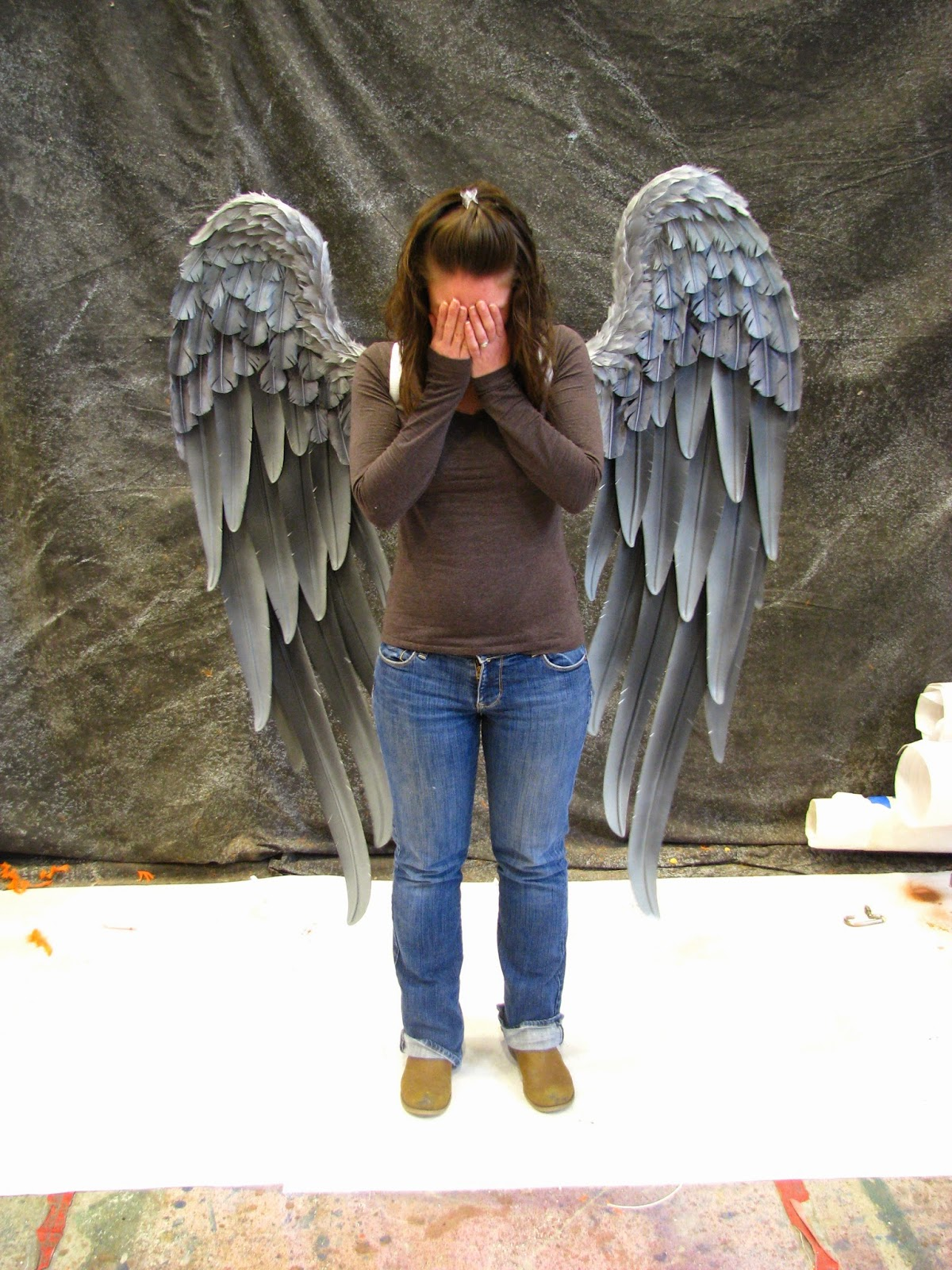 danielle hurley design TruWings Hawk Girl Wings Weeping Angel