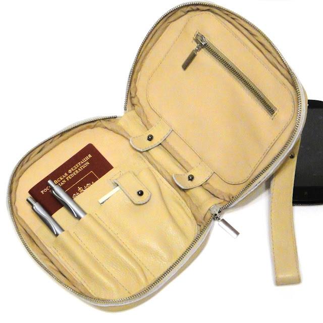 Мужской планшет кожаный - много внутренних карманов и съемный плоский карман