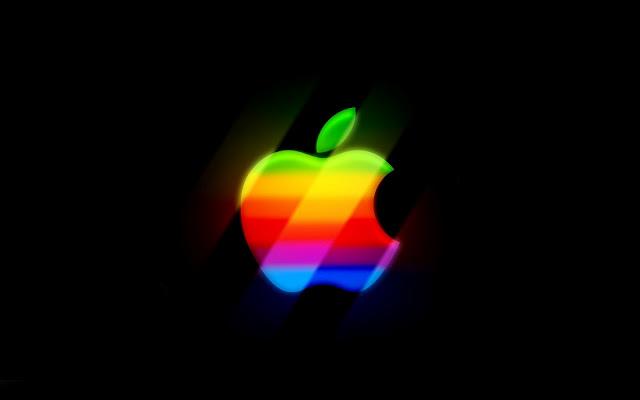 Gekleurde Apple logo