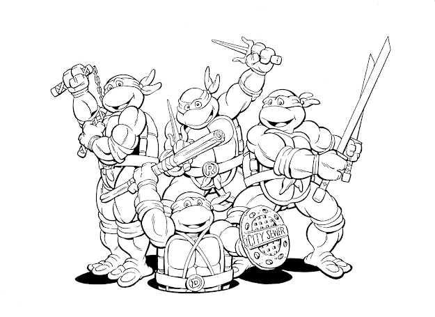 Teenage Mutant Ninja Turtle Coloring Pages Teenage Mutant Ninja Turtles  Kids Coloring Pages And Free Printable