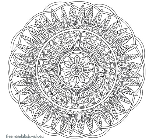 Digitale Mandala Kunst Färbung Seite (Druckbare PDF)   Free Mandala ...