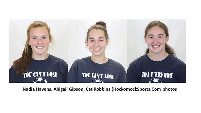 Nadia Havens, Abigail Gipson, Cat Robbins (HockomockSports.Com photos)