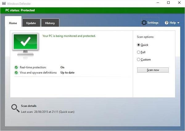 إيقاف تشغيل برنامج ويندوز ديفندر Windows Defender في ويندوز 10