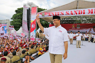 Hasil Exit Poll Pasangan Anis Sandi Unggul
