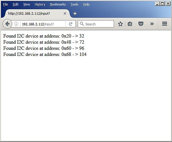 ESP Basic – I2C Bus scanner example