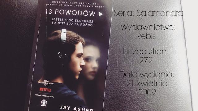 """""""Trzynaście powodów"""" Jay Asher"""