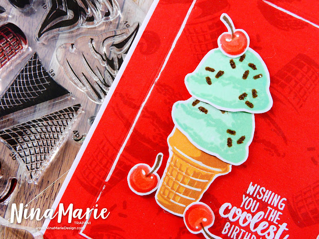 Sunny Studio Stamps: Perfect Popsicles and Two Scoops Guest Spotlight Cards by Nina Marie Trapani