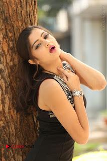 Actress Poojitha Pallavi Naidu Stills in Black Short Dress at Inkenti Nuvve Cheppu Movie Platinum Disc Function  0063.JPG