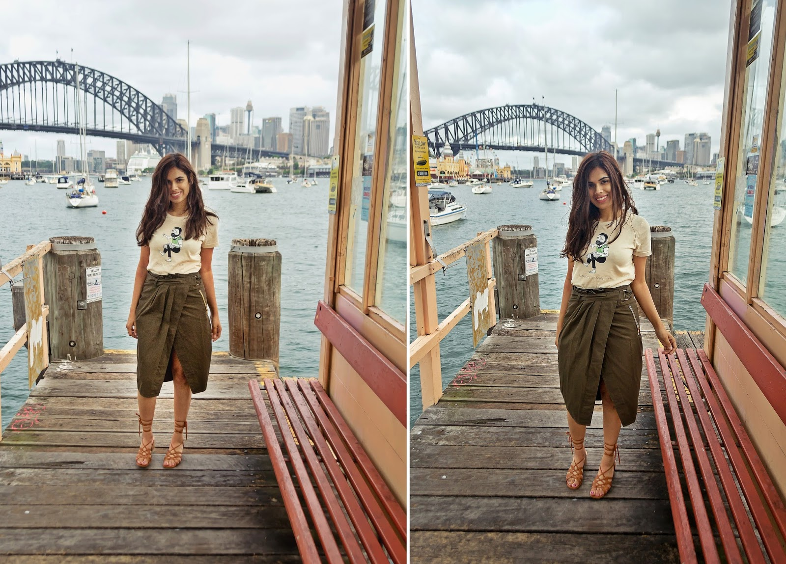 ASOS utility skirt and Custom Logo top in Lavender Bay