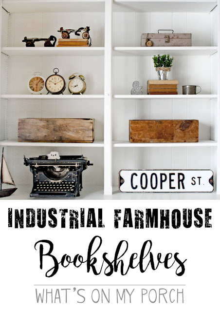 How To Style Industrial Farmhouse Bookshelves