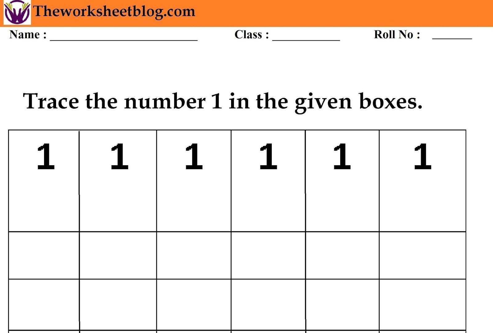 Number Tracing Worksheet