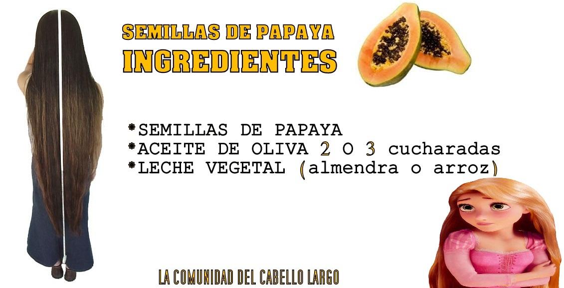 mascarilla de semilla de papaya para el cabello