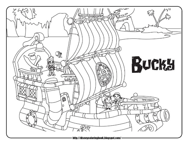 Coloring Pages And Sheets For Jake The Neverland Pirates