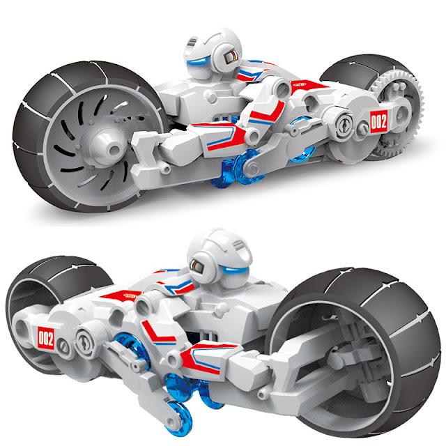 Xe moto lắp ghép chạy bằng nước muối