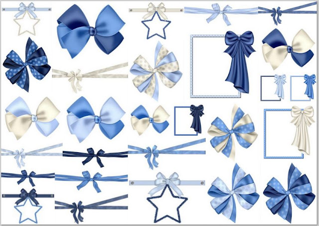 Christmas in Blue Clip Art.