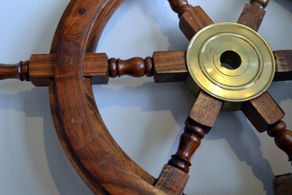 Wooden Ship Steering Wheel