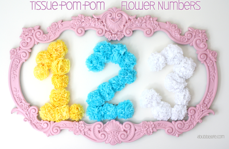 A Bubbly LifePaper Flowers Birthday Number DIY A Bubbly Life