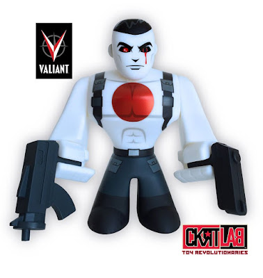 "SC Comicon 2016 Exclusive Valiant Comics ""The Valiant"" Variant Bloodshot Urban Vinyl Figure by CKRTLAB Toys"