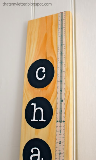 diy personalized growth chart