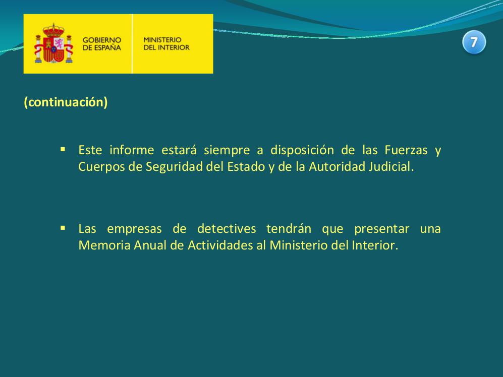 Cc oo prosegur madrid anteproyecto de ley de seguridad for Pagina de ministerio de seguridad