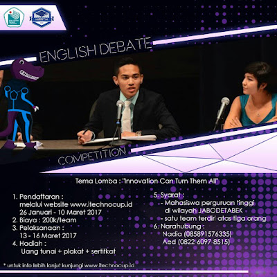 Lomba English Debate Competition 2017 by Politeknik Negeri Jakarta