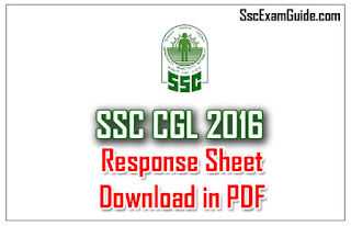 SSC CGL Tier I 2016 September 10 Response Sheet