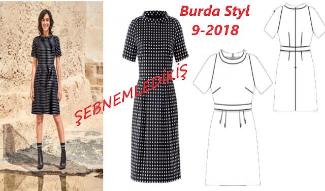 burda dergisi eylül 2018 elbise