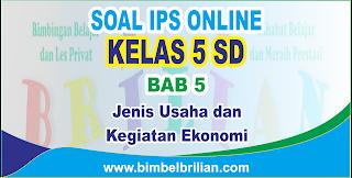 Soal IPS Online Kelas 5 ( Lima ) SD Bab 5 Jenis Usaha dan Kegiatan Ekonomi - Langsung Ada Nilainya