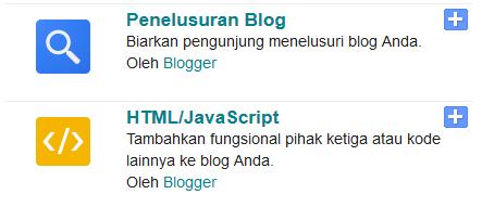 gadget html javascript blogger